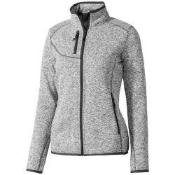 Tremblant ladies knit jacket, Female, 100% Polyester brushed back sweater knit, HEATHER GREY, XL