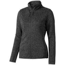 Tremblant ladies knit jacket, Female, 100% Polyester brushed back sweater knit, Heather Smoke, S