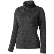 Tremblant ladies knit jacket, Female, 100% Polyester brushed back sweater knit, Heather Smoke, M