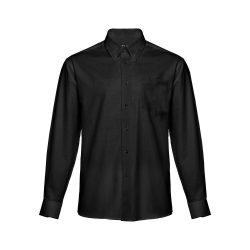 TOKYO. Men's oxford shirt, Male, 70% cotton and 30% polyester: 130 g/m², Black, XXL