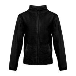 HELSINKI. Men's polar fleece jacket, Male, 100% polyester: 280 g/m², Black, S