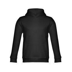 PHOENIX KIDS. Children's unisex hooded sweatshirt, Kids, 50% cotton and 50% polyester: 320 g/m², Black, 2