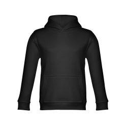 PHOENIX KIDS. Children's unisex hooded sweatshirt, Kids, 50% cotton and 50% polyester: 320 g/m², Black, 8