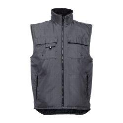 STOCKHOLM. Workwear padded bodywarmer, Unisex, 100% polyester, Grey, 3XL