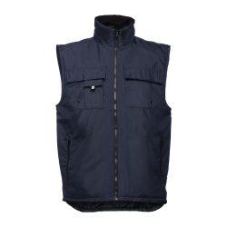 STOCKHOLM. Workwear padded bodywarmer, Unisex, 100% polyester, Navy blue, XL