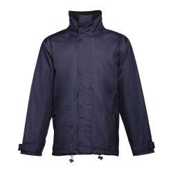 LIUBLIANA. Unisex heavy-weight coat, Unisex, Exterior: 100% polyester pongee 240 and waterproof PVC coating. Inside: 100% taffeta polyester. Filling: polyester 80 g/m², Navy blue, XXL