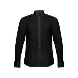 BATALHA. Men's poplin shirt, Male, 35% cotton and 65% polyester: 115 g/m², Black, L