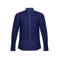 BATALHA. Men's poplin shirt, Male, 35% cotton and 65% polyester: 115 g/m², Navy blue, XXL