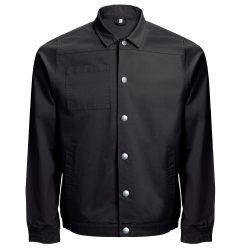 BRATISLAVA. Men's workwear jacket, Male, 98% cotton and 2% spandex: 240 g/m², Black, 3XL
