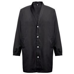 MINSK. Unisex workwear smock, Unisex, 20% cotton and 80% polyester: 190 g/m², Black, L