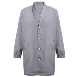 MINSK. Unisex workwear smock, Unisex, 20% cotton and 80% polyester: 190 g/m², Grey, L