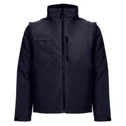 ASTANA. Unisex padded workwear jacket, Unisex, 100% polyester, Navy blue, 3XL
