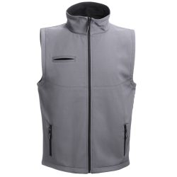 BAKU. Unisex softshell vest, Unisex, 96% polyester and 4% spandex (2 layers): 280 g/m², Grey, S