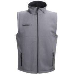 BAKU. Unisex softshell vest, Unisex, 96% polyester and 4% spandex (2 layers): 280 g/m², Grey, XXL