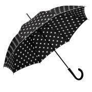 Umbrela cu deschidere automata, maner plastic, diametru 1010 mm, Everestus, 20IUN0805, Negru, Poliester