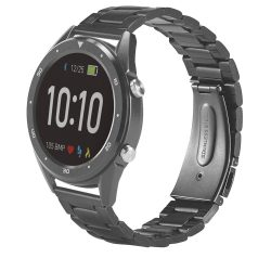 THIKER I. Smart watch, Stainless steel, Black