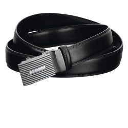 Men's belt, Leather, Black