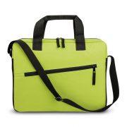Geanta laptop 15 inch cu 2 buzunare aditionale, Everestus, 20FEB0285, Poliester 600D, Verde