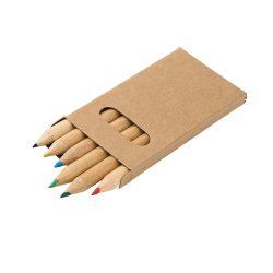 Pencil box with 6 coloured pencils, Cardboard, no colour