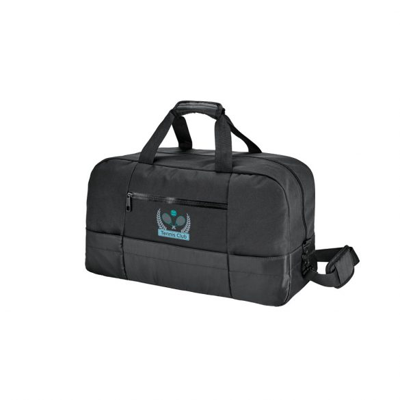 Geanta sport gimnastica, buzunar frontal, Everestus, ZS, 840D si 300D, negru