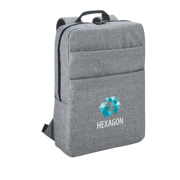 Rucsac Laptop 15.6 inch, Everestus, GS, 600D densitate mare, gri deschis