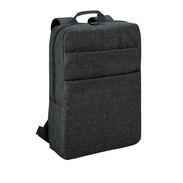 Rucsac laptop 15.6 inch cu 2 buzunare frontale, Everestus, 20FEB0941, Poliester 600D, Gri