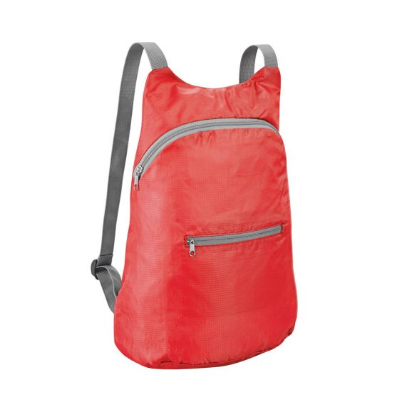 Foldable backpack, 210D ripstop, Red