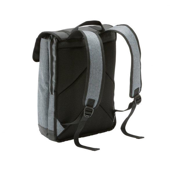 Rucsac Laptop 17 inch, Everestus, TR, 600D densitate mare si tarpaulin, gri inchis