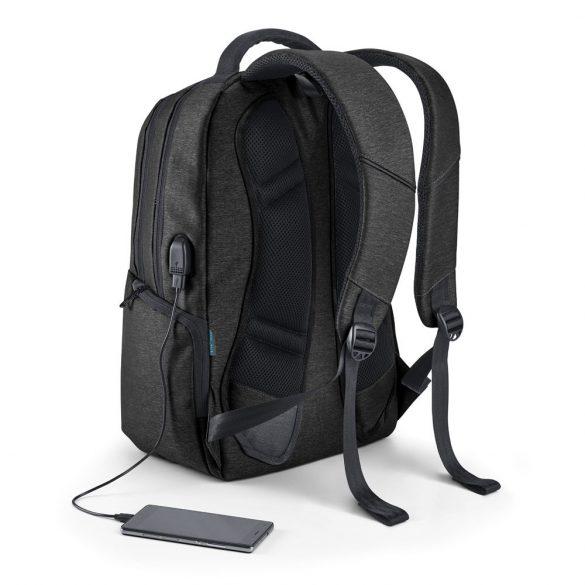 Rucsac laptop 17 inch cu 2 compartimente, Everestus, 20FEB0936, Nylon, Negru