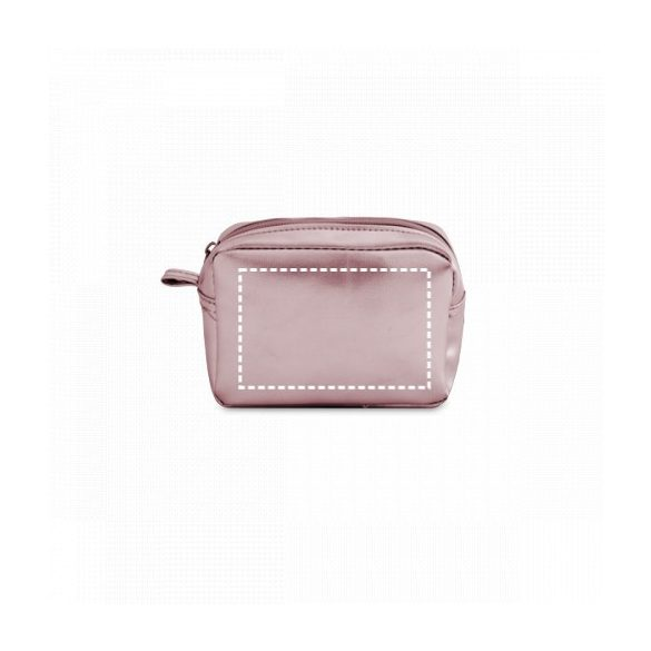 Multiuse pouch, PVC, Satin silver