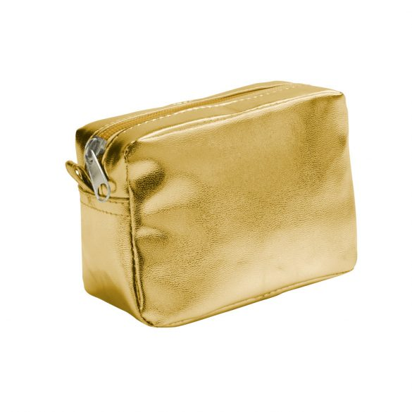 Multiuse pouch, PVC, Satin gold