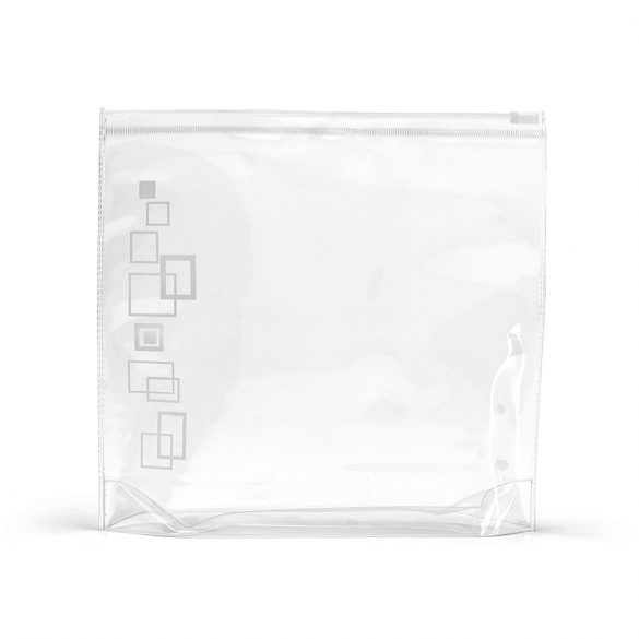 Airtight cosmetic bag, PVC, White