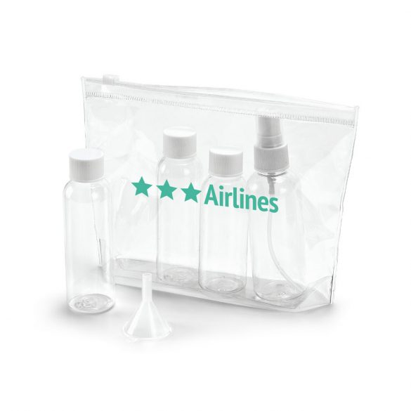 Airtight cosmetic bag, PVC, Transparent
