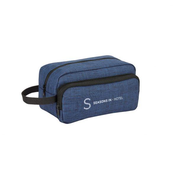 Geanta cosmetice pentru voiaj, Everestus, KV01, poliester 300D de densitate mare, albastru