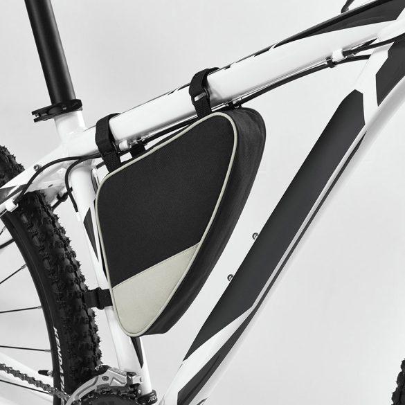 Borseta de bicicleta, curele ajustabile, Everestus, BYC01, poliester 600D, gri, negru