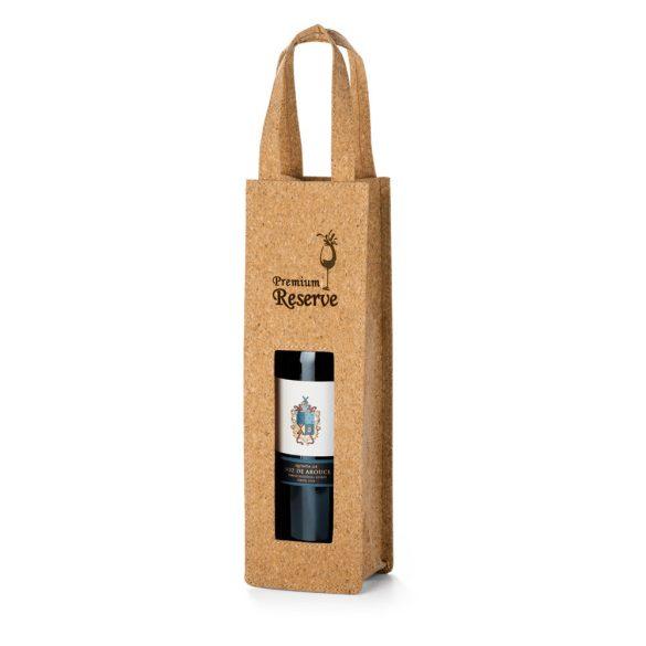 Sacosa pentru 1 sticla de vin, Everestus, BA, pluta, natur