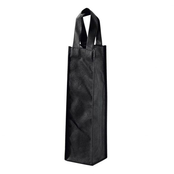 Sacosa sticla de vin, Everestus, WB01, material netesut, negru