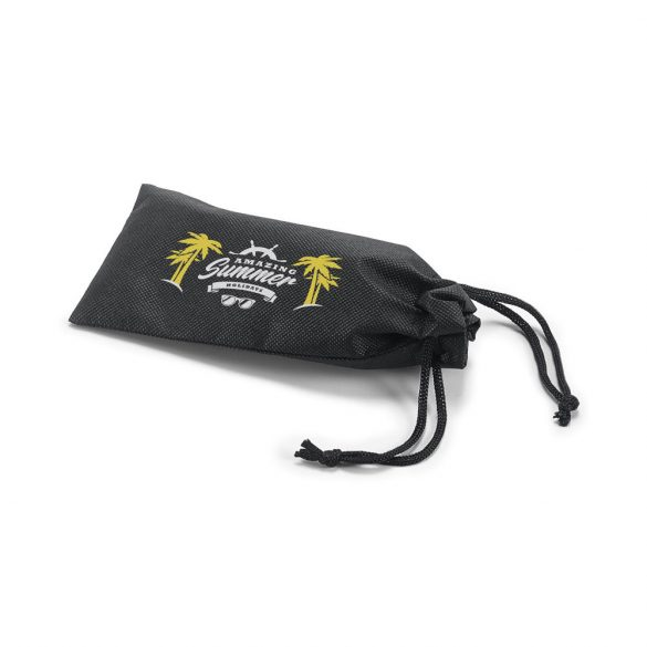 Pouch for glasses, Non-woven: 80 g/m², Black