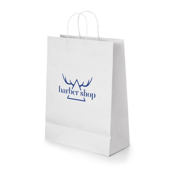 Bag, Kraft paper: 100 g/m², White