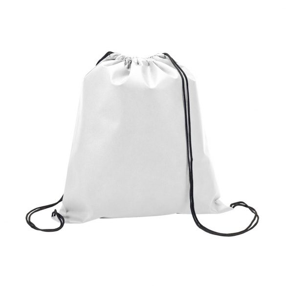 Drawstring bag, Non-woven: 80 g/m², White