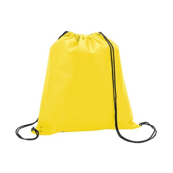 Drawstring bag, Non-woven: 80 g/m², Yellow