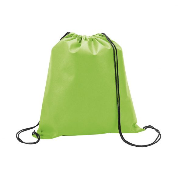 Drawstring bag, Non-woven: 80 g/m², Light green