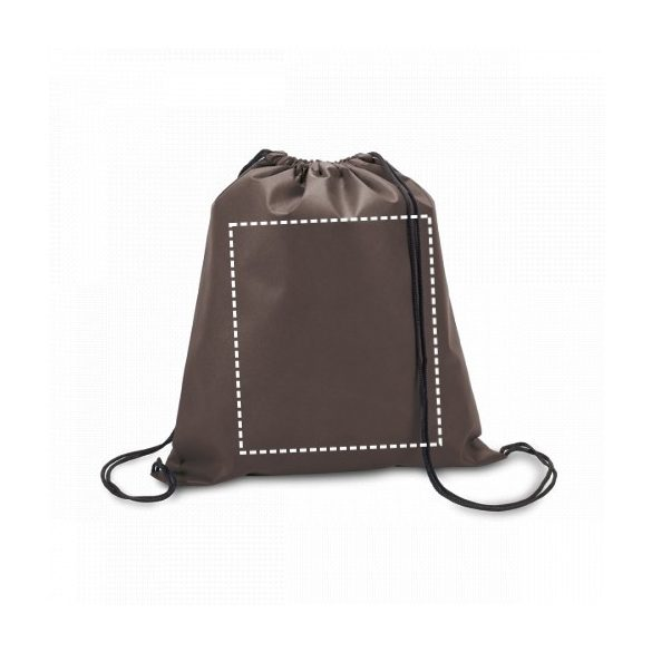 Drawstring bag, Non-woven: 80 g/m², Brown