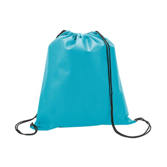 Drawstring bag, Non-woven: 80 g/m², Light blue