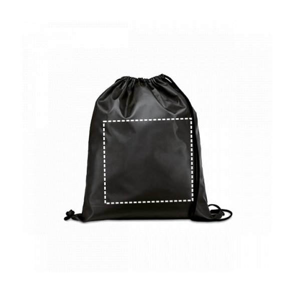 Drawstring bag, 210D, Black