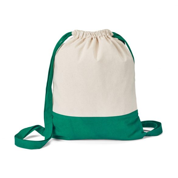 Drawstring bag, 100% cotton canvas: 180 g/m², Green