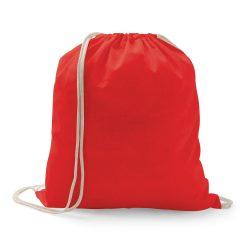 Drawstring bag, 100% cotton, Red