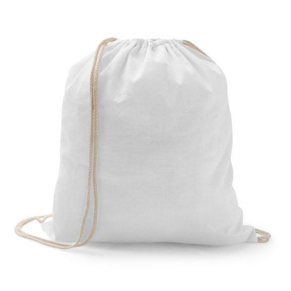 Drawstring bag, 100% cotton, White