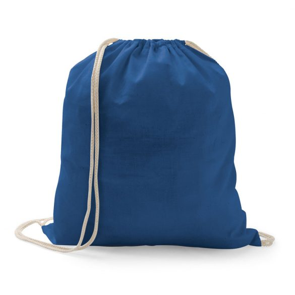 Drawstring bag, 100% cotton, Blue