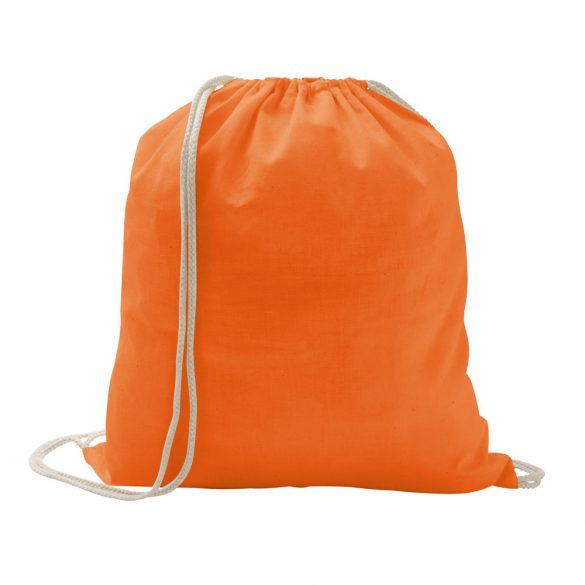 Drawstring bag, 100% cotton, Orange
